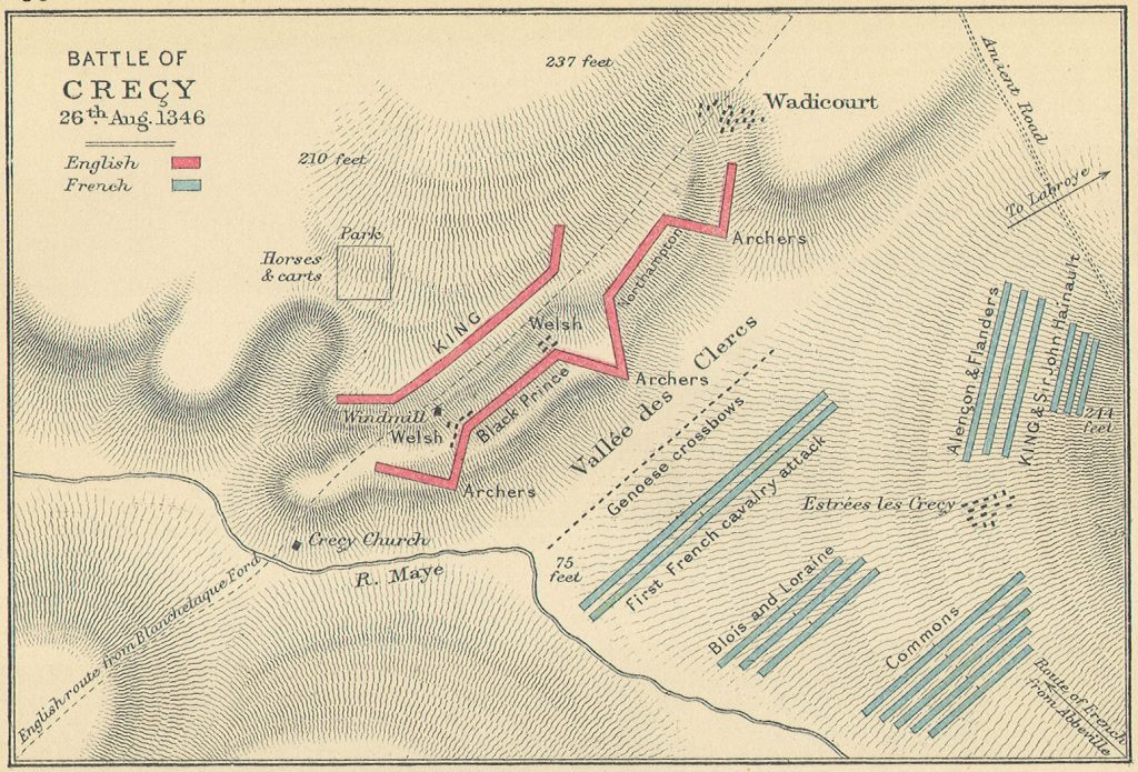 The Battle of Crecy Map